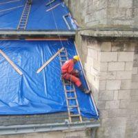 Bâchage de toiture - Eglise Notre Dame du Bon Port, Les Sables d'Olonne (85)