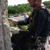 Purges de sécurité et réparation d'éclats béton