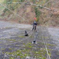 travaux sur cordes au barrage de Guerledan