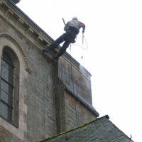Lavage de bâtiments patrimoniaux en Bretagne.
