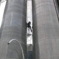 Lavage extérieur de silos inox