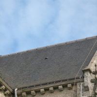 Descente feuillard cuivre église d'Elven.
