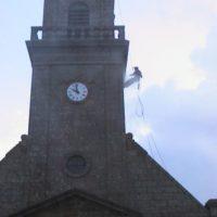 Lavage du clocher d'Inguiniel