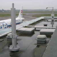installation lignes de vie sur toiture àéroport de Nantes.
