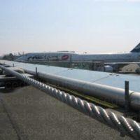 Lignes de vie sur toiture àéroport de Nantes.