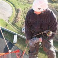 Installation échelle d'accès au phare de Goulphar - Belle ile