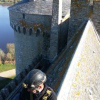 Obturation des conduits de cheminées au château de Suscinio