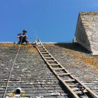 Maçonnerie sur cheminée au château de Suscinio