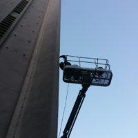 Réparation des bétons au mortier fibré et ragréage de l'église Saint Louis de Lorient