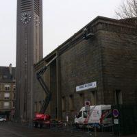 Purge et réparation des bétons de l'église Saint Louis à Lorient