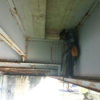 Inspection structure de pont en Morbihan.