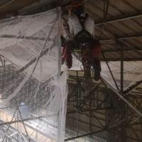 Installation de filets de sécurité