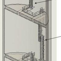travaux en hauteur Chateau d'eau Installation d'échelles à crinoline
