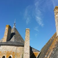 travaux en hauteur maçonnerie sur cheminée obturation des conduits chateau de suscinio