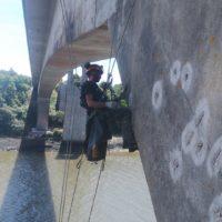 accès difficile travaux sur pont