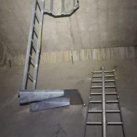 travaux à la corde accès dans ouvrage d'art