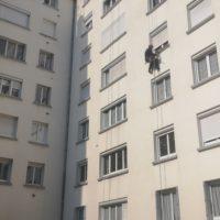 purge de sécurité de façades d_immeubles