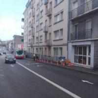 sécurité balisage de chantier travaux accès difficile